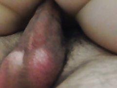 Fucking og cumming i min kone s fisse