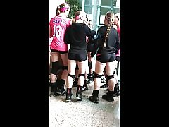 Sexede æsler sexet kroppens på volleyball :-)
