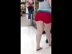 Chunky pawg røde hjerte shorts