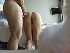 Min ven knepper min kone på skjulte cam